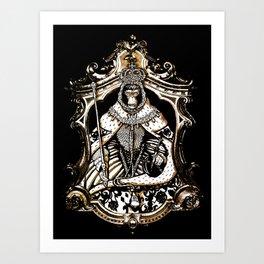 monkey queen  Art Print