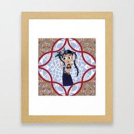 tribal dancer Framed Art Print
