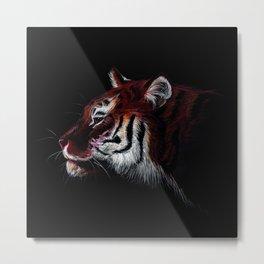 Red Tiger Metal Print