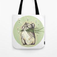 hamster Tote Bags featuring Hamster Love by Nasuta