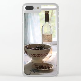 Bowl of cherries Clear iPhone Case