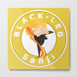 One Piece - Black-leg Sanji (My Syle) Metal Print