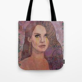 Lana - Deadly Nightshade Crying Tears Of Gold Tote Bag