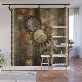 Steampunk, wonderful noble design  Wall Mural