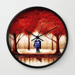 Tardis Cloud - Red Wall Clock