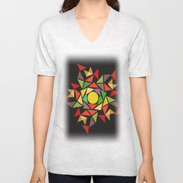 August sunset Unisex V-Neck