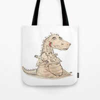 dragon Tote Bags featuring Dragon  by gunberk