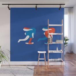 Spring rolls in blue Wall Mural