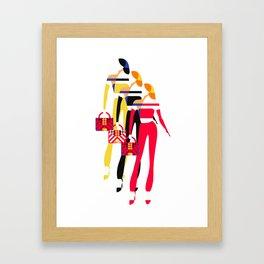 Stylish Women Framed Art Print