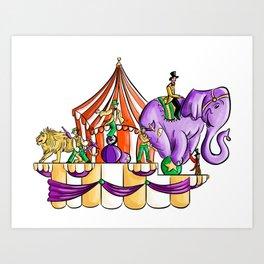 Circus Float Art Print