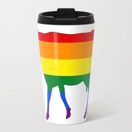 Rainbow Cow Travel Mug