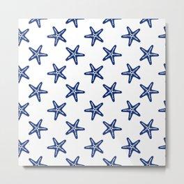 Blue Starfish Metal Print