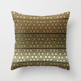 Triangles in Triangles on gold Throw Pillow