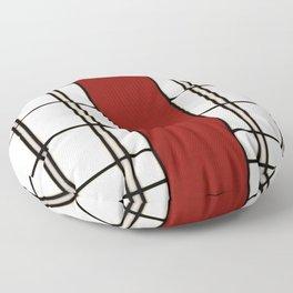 Shoji - red Floor Pillow