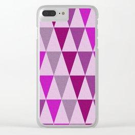 Geometric pattern 210 Clear iPhone Case