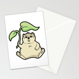 Little Chubby Happy Gopher Shading Itself Stationery Cards