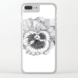 Stippled Pansy Clear iPhone Case