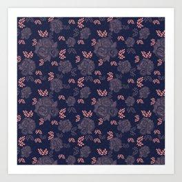 Retro textiles Art Print