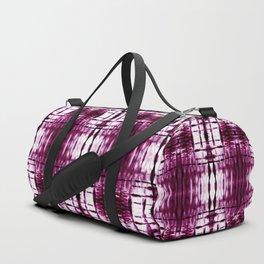 Black Cherry Plaid Shibori Duffle Bag