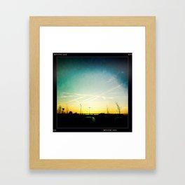 cloud lines Framed Art Print