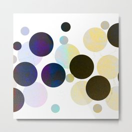 Dots in Chocolate and Vanilla Metal Print