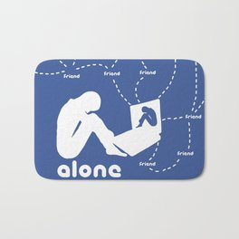 Friendship in the digital age Bath Mat