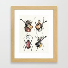 Meet the Beetles (white option) Framed Art Print