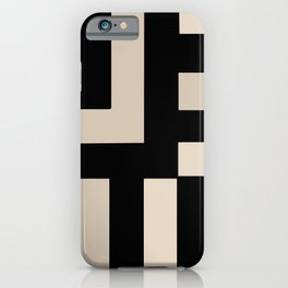 Black and Tan iPhone Case