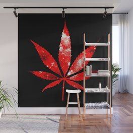 Weed : High Times red Galaxy Wall Mural