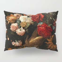 """Ernst Stuven """"Floral still life with Yellow-Bellied Toad and snake"""" Pillow Sham"""