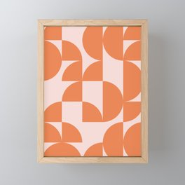 Mid Century Design in Burnt Orange and Blush Framed Mini Art Print