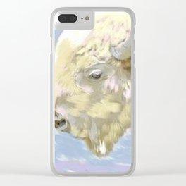 White buffalo calf Clear iPhone Case