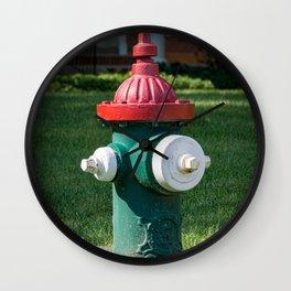 Red Bonnet Eddy Valve Branded Clow Fire Hydrant Oskaloosa Iowa Fire Plug Wall Clock