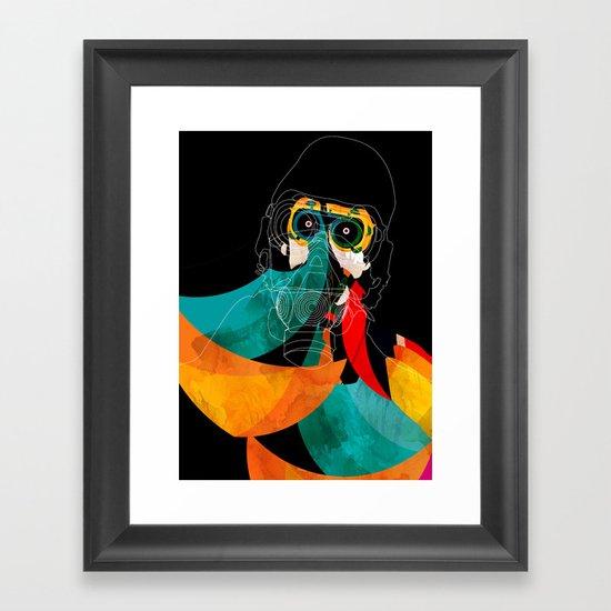 Mask Framed Art Print