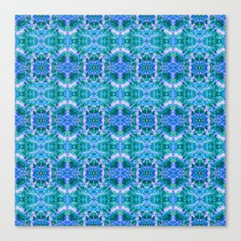 Psychedelic Kaleidoscope Sea Foam Pattern Canvas Print