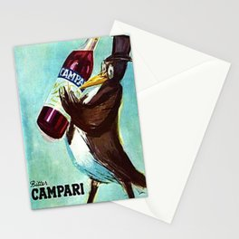 Ultra Rare Vintage Bitter Campari 'Penguin' Lithograph Advertisement Poster Stationery Cards