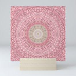 Gold Rose and Blush Boho Mandala Mini Art Print