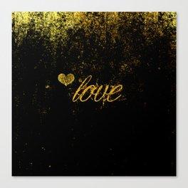 Glittery Love Canvas Print
