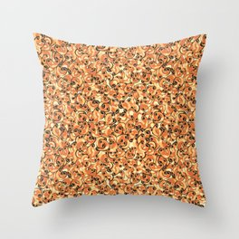 Mac & Cheese Pattern Throw Pillow