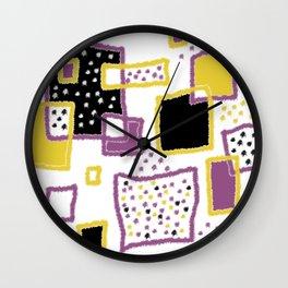 fuzzy rectangles Wall Clock