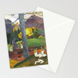 Mata Mua by Paul Gauguin Stationery Cards