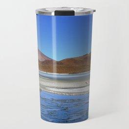 Volcano Reflections in the Bolivian Desert Travel Mug