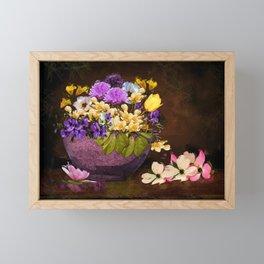 Colorful Flower Basket Framed Mini Art Print