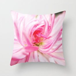 Rediscover pink. Throw Pillow