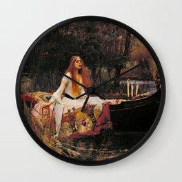 John William Waterhouse The Lady Of Shalott Wall Clock