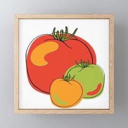 cheery Cherry Tomato tomatoes Framed Mini Art Print