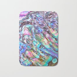 Shimmery Rainbow Abalone Mother of Pearl Bath Mat