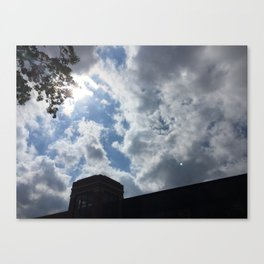 cloudy campus afternoon Canvas Print