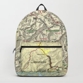 The Great Smoky Mountains National Park Map (1997) Backpack