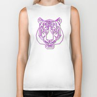 rave Biker Tanks featuring Tiger Rave by James Thornton